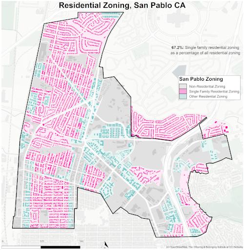 zoning map of San Pablo