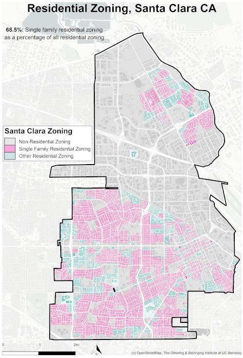 Zoning map of Santa Clara