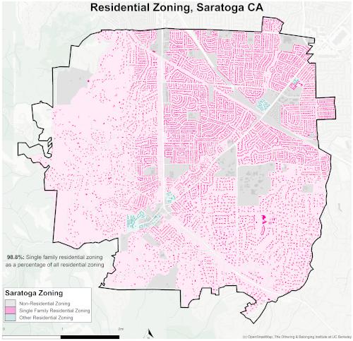 Zoning map of Saratoga