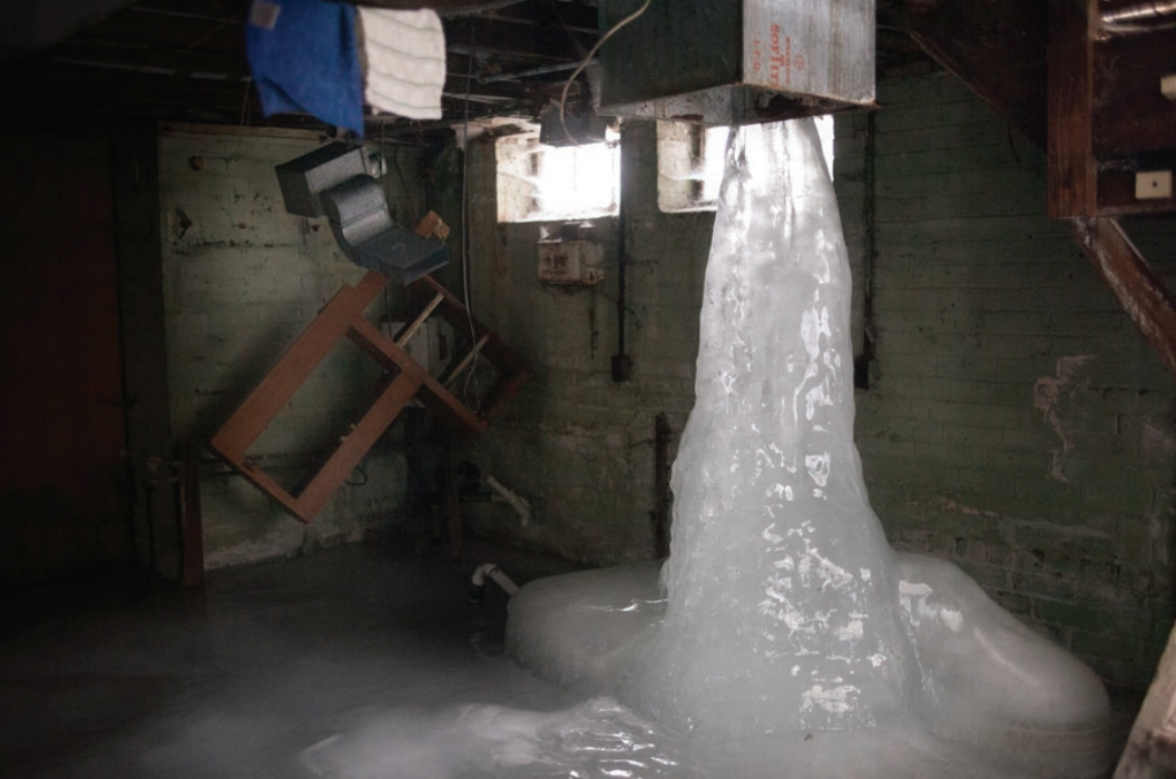 Image of dark, cold basement from the film I Do My Dying. Coutesy of Kate Levy, available online at detroitmindsdying.org