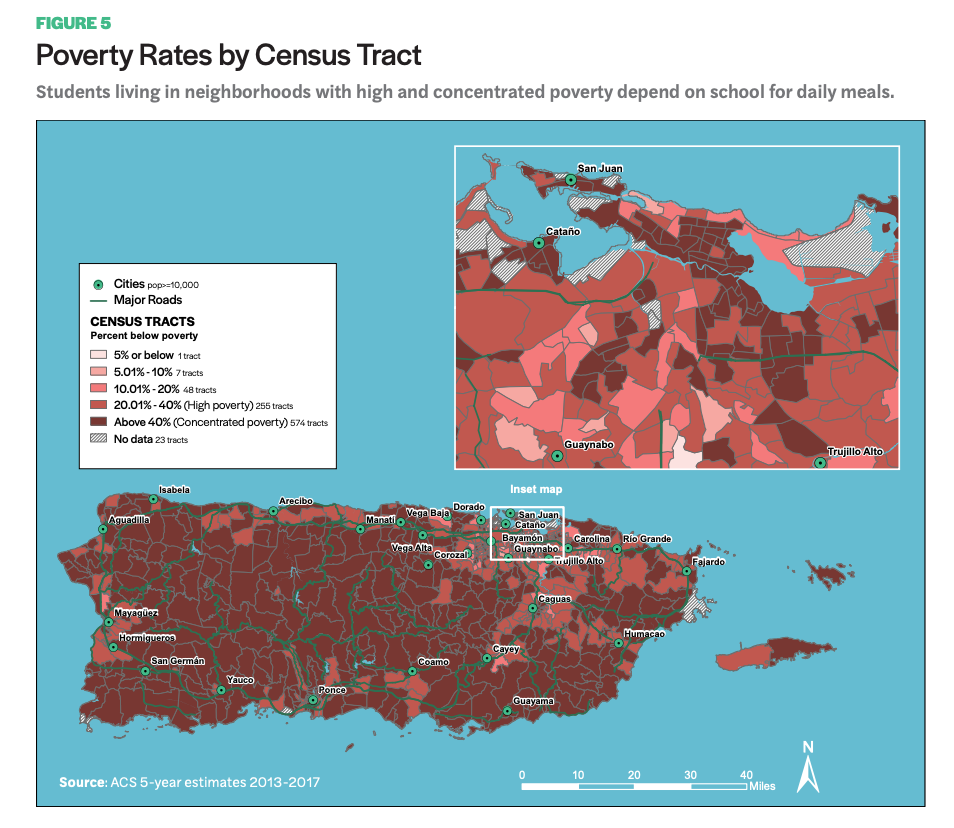 Figure 6 includes a map that showcases Poverty Rates by Census Tract