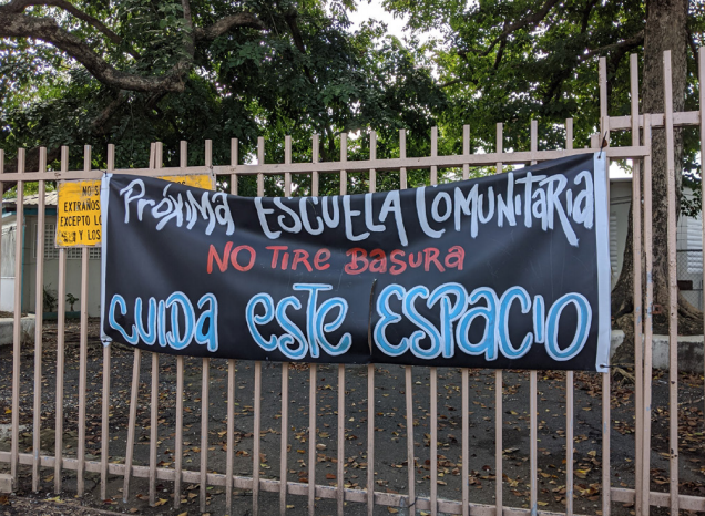 Moises Meléndez school in San Juan is an active site of a community take-over, which is attempting to combat the negative effects of the closure.