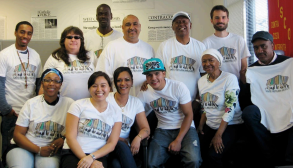 This picture is of The Safe Return Team and supporters in 2013, sporting tshirts with the new Safe Return logo