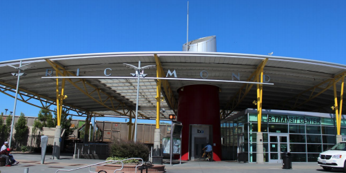 This image is of The Richmond BART station