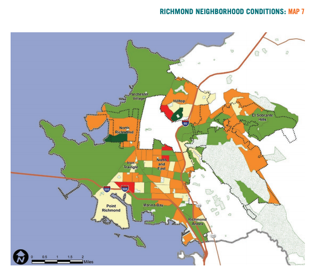 Map 7 showcases Richmond neighborhood conditions based on change in homeownership