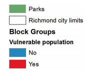 Map 11 showcases Richmond stages of gentrification based on vulnerable populations