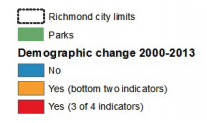 Map 12 showcases Richmond stages of gentrification based on demographic change