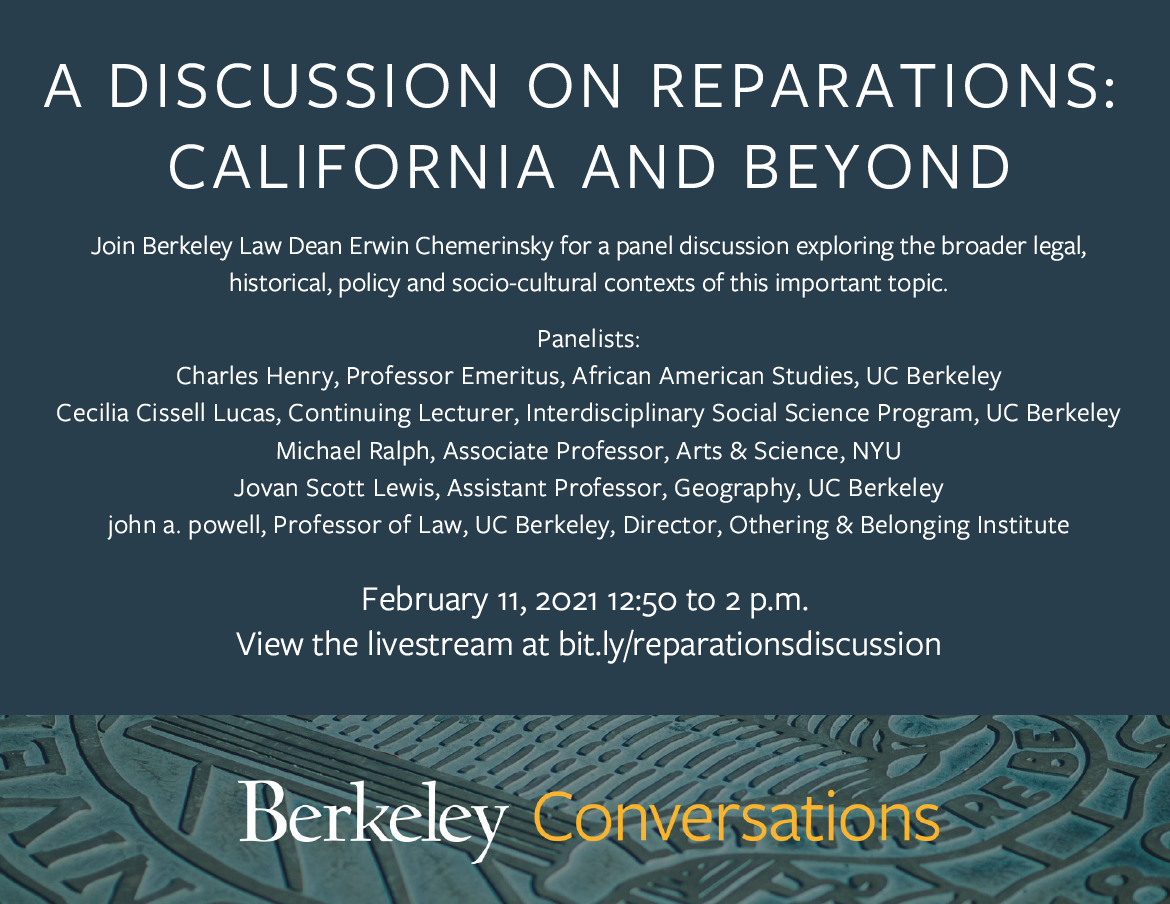 A Discussion on Reparations: California and Beyond