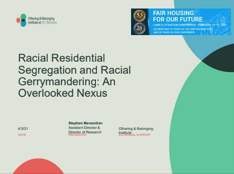 Racial Residential Segregation and Racial Gerrymandering: An Overlooked Nexus