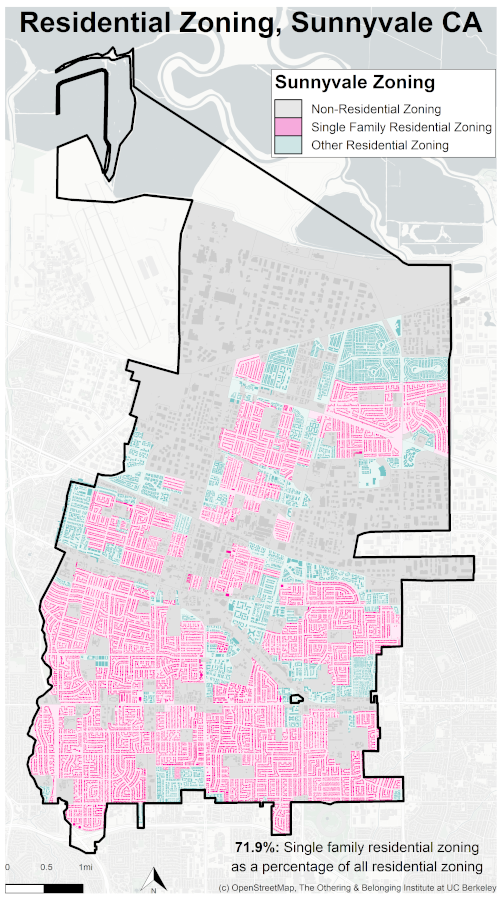zoning map of Sunnyvale