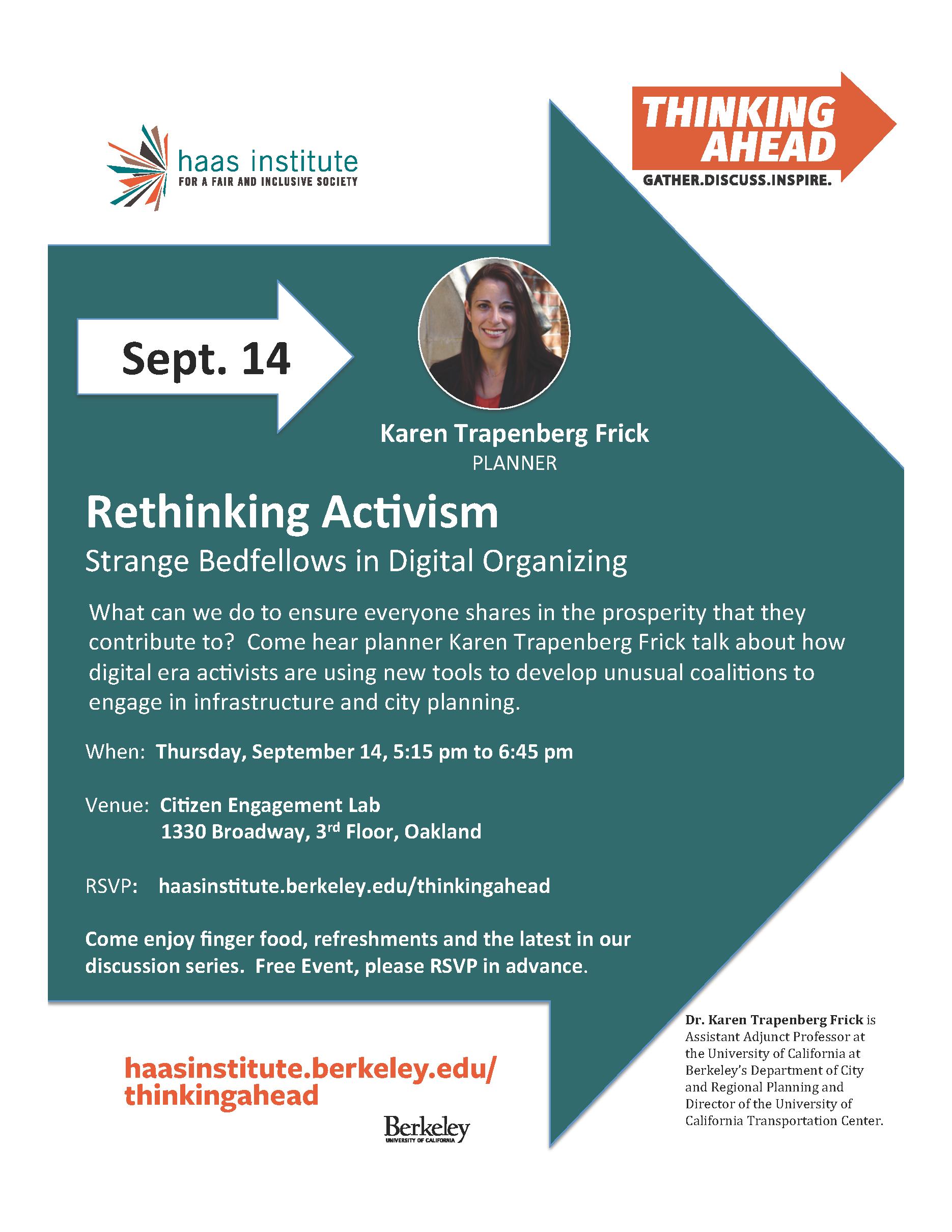 Rethinking Activism flyer