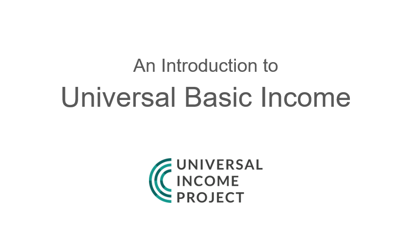 Universal Basic Income TItle Slide: Thinking Ahead